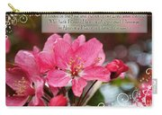 Cherry Blossom Greeting Card With Verse Carry-all Pouch