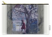Cherry Blossom Red Abstract Carry-all Pouch