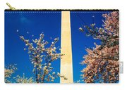 Cherry Blossoms At The Monument Carry-all Pouch