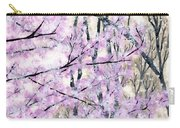 Cherry Blossoms In Spring Snow Carry-all Pouch