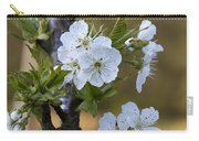 Cherry Blossoms In White Carry-all Pouch