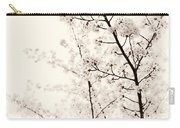 Cherry Tree Blossom Artistic Closeup Sepia Toned Carry-all Pouch