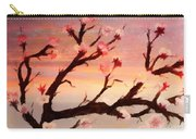 Cherry Tree Expresssive Brushstrokes Carry-all Pouch