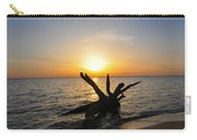 Chesapeake Bay Driftwood At Sunset Carry-all Pouch