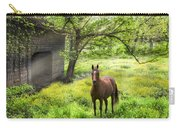 Chestnut Horse In A Sunny Meadow Carry-all Pouch