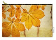 Chestnut Leaves At Autumn Carry-all Pouch