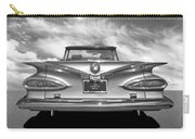 Chevrolet Impala 1959 In Black And White Carry-all Pouch