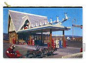 Chevron Gas Station At Santa's Village With Reindeer And Carl Hansen Carry-all Pouch