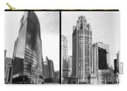 Chicago 333 And The Tower 2 Panel Bw Carry-all Pouch