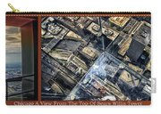 Chicago A View From The Top Of Sears Willis Tower Hdr Triptych 3 Panel Carry-all Pouch