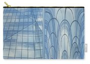 Chicago Abstract Before And After Blue Glass 2 Panel Carry-all Pouch