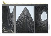 Chicago Abstract Before And After John Hancock Sw Facades Triptych 3 Panel Carry-all Pouch