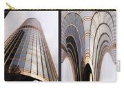 Chicago Abstract Before And After Sunrays On Trump Tower 2 Panel Carry-all Pouch