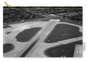 Chicago Airplanes 04 Black And White Carry-all Pouch