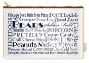 Chicago Bears Game Day Food 3 Carry-all Pouch