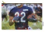 Chicago Bears Rb Matt Forte Training Camp 2014 Photo Art 02 Carry-all Pouch