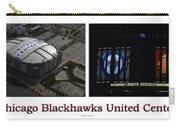Chicago Blackhawks United Center 2 Panel White Signage Carry-all Pouch
