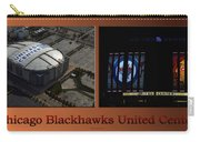 Chicago Blackhawks United Center Signage 2 Panel Tan Carry-all Pouch
