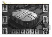 Chicago Bulls Banners In Black And White Carry-all Pouch by Thomas Woolworth