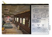 Chicago Eastern Il Rr Business Car Restoration With Blue Print Carry-all Pouch