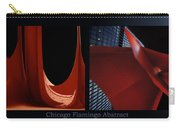 Chicago Flamingo Abstract 01 2 Panel Carry-all Pouch