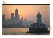 Chicago Harbor Lighthouse At Sunset Carry-all Pouch