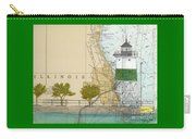 Chicago Harbor Se Guidewall Lighthouse Il Nautical Chart Art Carry-all Pouch
