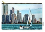 Chicago Il - Sailboat Against Chicago Skyline Carry-all Pouch