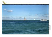 Chicago Illinois Harbor Lighthouse And Little Lady Tour Boat Usa Carry-all Pouch