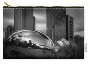 Cloud Gate Aka Bean In Black And White Carry-all Pouch