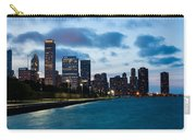 Chicago Lake Front At Blue Hour Carry-all Pouch