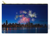 Chicago Lakefront Fireworks Carry-all Pouch by Steve Gadomski