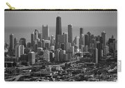 Chicago Looking East 01 Black And White Carry-all Pouch