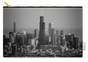 Chicago Looking East 02 Black And White Carry-all Pouch