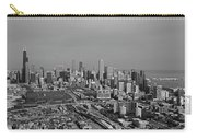 Chicago Looking North 01 Black And White Carry-all Pouch