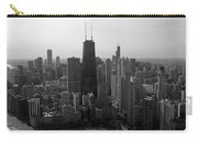 Chicago Looking South 01 Black And White Carry-all Pouch
