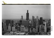 Chicago Looking West 01 Black And White Carry-all Pouch