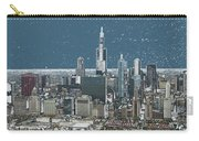 Chicago Looking West In A Snow Storm Digital Art Carry-all Pouch