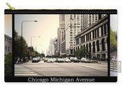 Chicago Michigan Ave Field Museum Art Institute Triptych 3 Panel Carry-all Pouch
