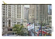 Chicago Michigan Avenue V Hdr Textured Carry-all Pouch