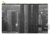Chicago Modern Skyscraper Black And White Carry-all Pouch
