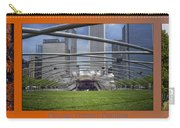 Chicago Pritzker Music Pavillion Triptych 3 Panel Carry-all Pouch