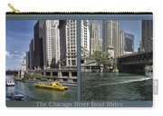 Chicago River Boat Rides 2 Panel Carry-all Pouch