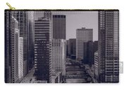 Chicago River Bridges South Bw Carry-all Pouch