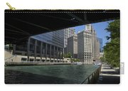 Chicago River Walk Going East 02 Carry-all Pouch