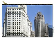 Chicago River Walk Wrigley And Tribune Carry-all Pouch