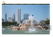 Chicago Skyline And Fountain Carry-all Pouch