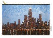Chicago Skyline At Night From North Avenue Pier Carry-all Pouch