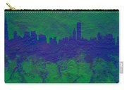Chicago Skyline Brick Wall Mural 2 Carry-all Pouch
