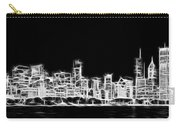 Chicago Skyline Fractal Black And White Carry-all Pouch